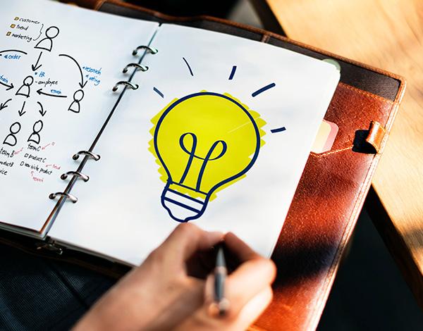 Formation - Dessin d'une ampoule, idée et conseil